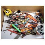 Screw drivers, tape measure, box cutter, misc.