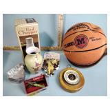 Barometer, vase, wood bowl, food chopper - new,
