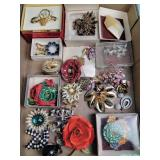 Costume jewelry: pins, brooches