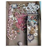 Costume jewelry: necklaces, earrings, men