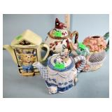 (4) Teapots - one has no lid