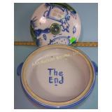 M. A. Hadley pottery cow & pig casserole