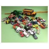Hot Wheels, Matchbox cars, Buddy L school bus,