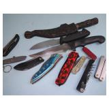 Pocket knives and other knives