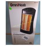 Omni heat infrared quartz tower heater untested