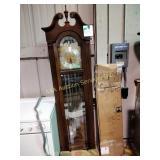 "Elgin grandfather clock. 82""h x 22""w x 12""d"