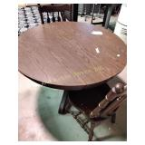"""Dining table (48""""d) & 2 chairs"""