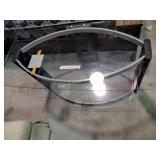 """Glass top television stand. 24""""h x 44""""w 21""""d"""