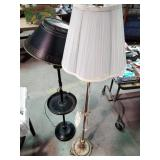 2 floor lamps including tile painted