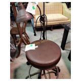 Floor lamp & rolling stool