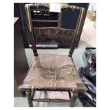 American Classical fancy painted side chair