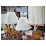 5 table lamps shades with wear