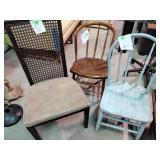 3 side chairs worn