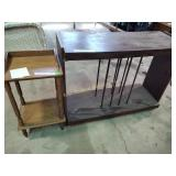 """Record stand 30""""h x 40""""w x 15""""d & accent table"""