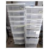 (2) Plastic storage drawer units