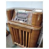 "Philco cabinet radio 49""h x 29""w x 14d untested"