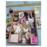Costume jewelry: pins, bracelets, necklaces,