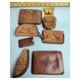 Leather wallets & coin pouches