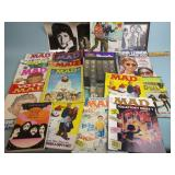 An assortment of Beatles magazines and books