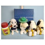 Snoopy pull toys, scrap books, Peanuts thermos,