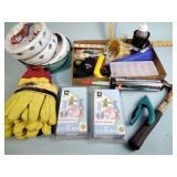 Cricut nursery rhymes, paper plates, work gloves,