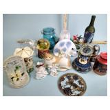 Music carousel, bottles, figurines and other
