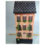 Wooden house knick-knack cabinet