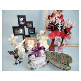 Vases, angels, photos stand and more