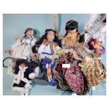 Native American style dolls, angel tree toppers