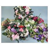 Artificial flowers, wreath