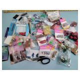 Craft beads, craft supplies, hot glue sticks,