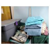 Blankets, bedding, tote