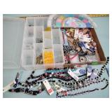 Costume jewelry necklaces, craft beads,
