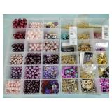 Craft beads, containers, earring parts,