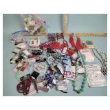 Craft beads, costume jewelry necklaces, craft