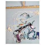 Costume jewelry: necklaces, beads