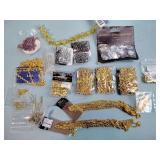 Jewelry chains, costume beads