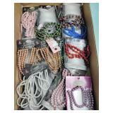 Costume jewelry bead strands