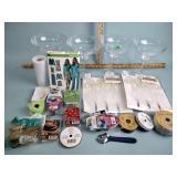 Plastic margarita glasses, wax cubes, faux pearl