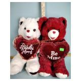 Two Valentine bears in great condition with tags