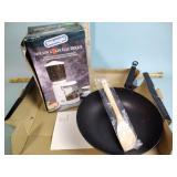 Joyce Chen stir fry pan 4pc set, DeLonghi coffee