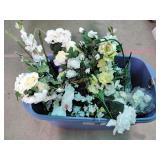 Artificial flowers, tote