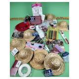 Craft supplies, craft hats, beads
