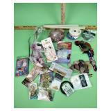 Glass accent gems, thread, ribbon, key hangers,