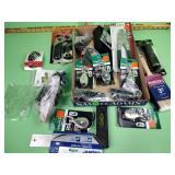 Tire gauge, utility pulleys, corkscrew, crimp