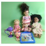 Dolls, toys, tote