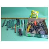 Wrenches incl. Craftsman & Stanley, tape measure,