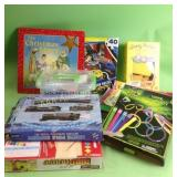 Games, toys, craft supplies, puzzle