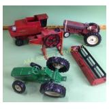 Toy tractors & farm implements including Ertl