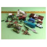 Maisto army toys, car model, Tootsietoy, tractor